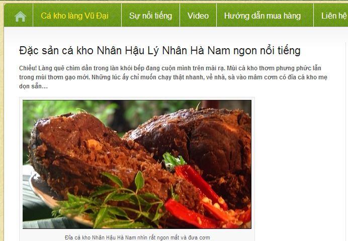 Câu chuyện web thương mại điện tử tại Việt Nam với nồi cá kho